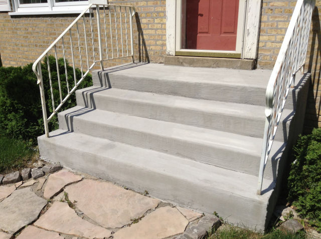 Repair Concrete Steps Re Railings